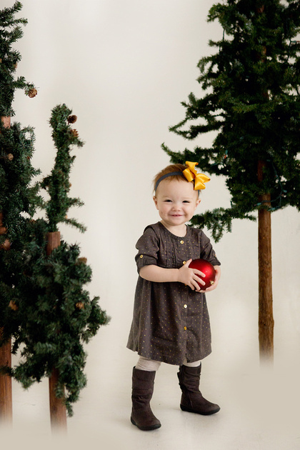 Omaha, Nebraska family, Christmas, baby, one year old, holiday photographer, CD, print rights