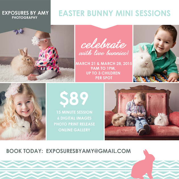 Easter bunny session with live bunnies Omaha